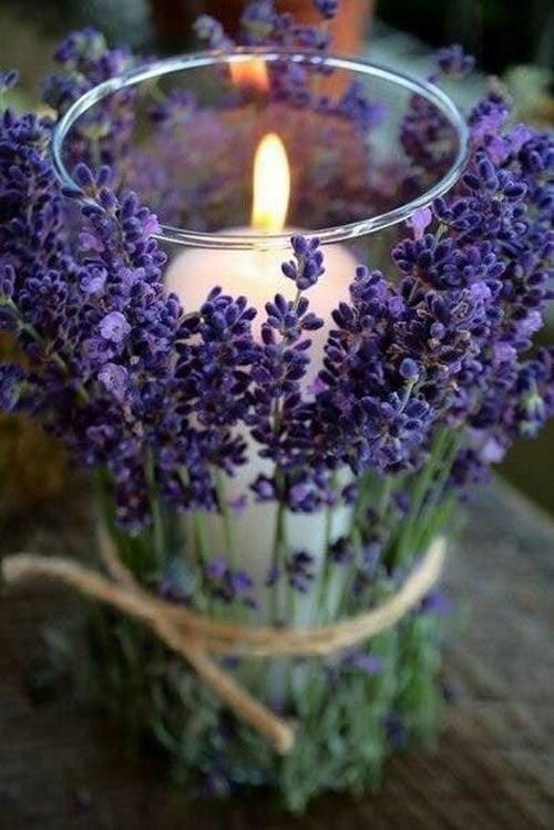 Lavender Candleholder