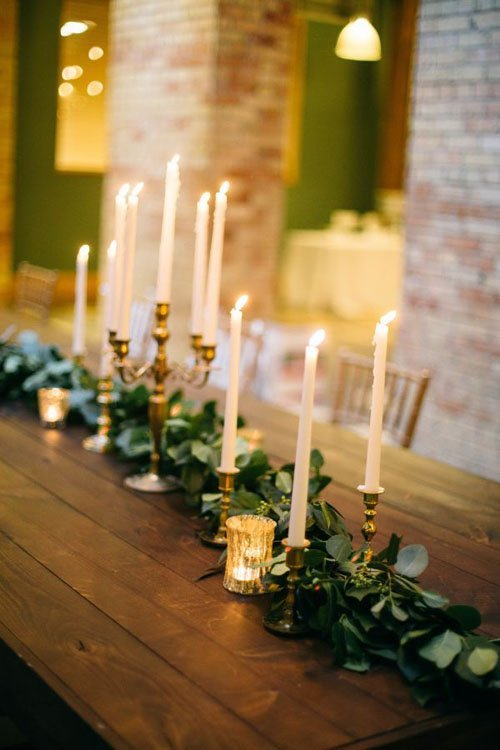 Gold Taper Candles & 20 Simple and Chic Candle Centerpieces