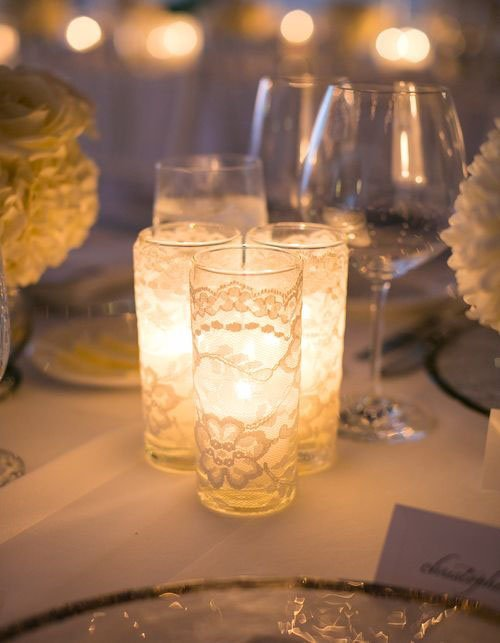 Simple and chic candle centerpieces