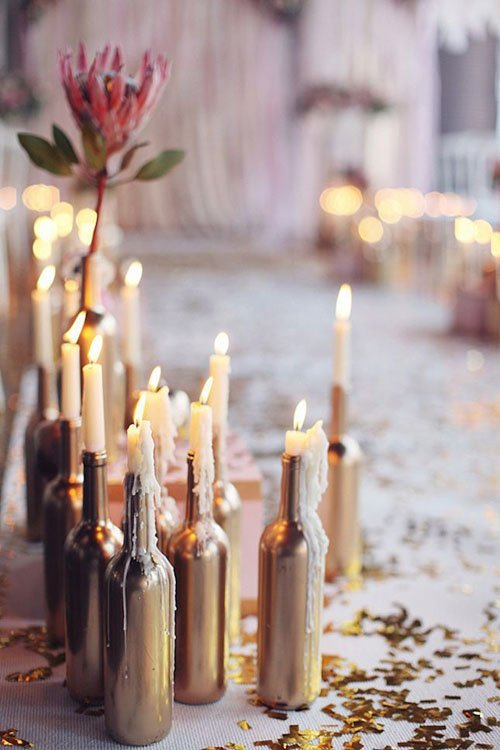 20 Simple And Chic Candle Centerpieces