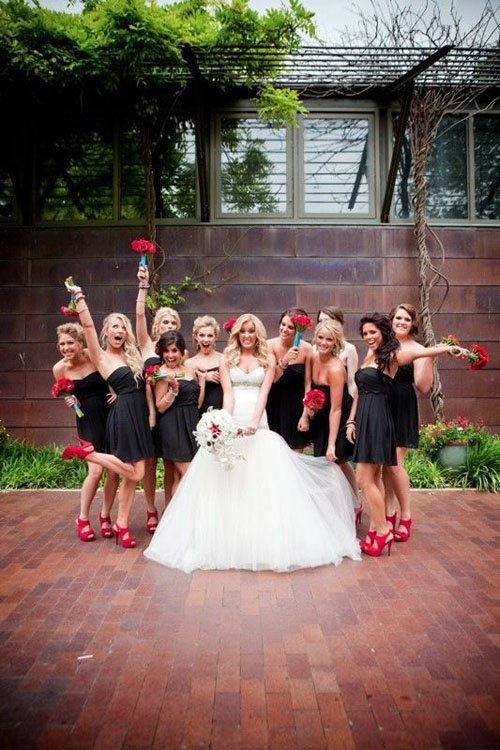 Black Wedding Dresses Shoes