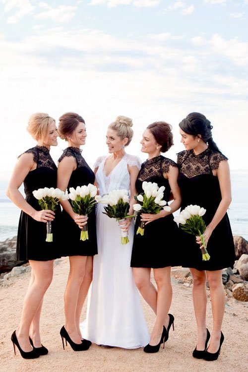 16 black bridesmaid dresses that are beyond amazing and lace mightylinksfo