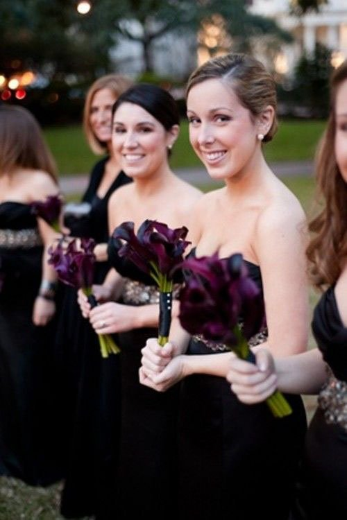 They can go with dark wedding flowers...