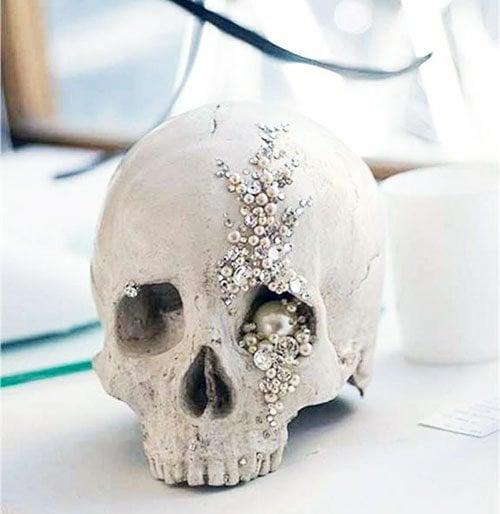 Jeweled Skull Centerpiece