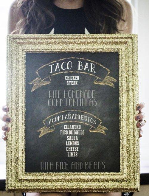 DIY a taco bar