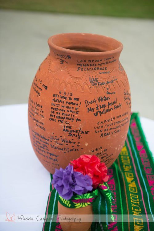 Or have guests sign traditional Mexican pottery