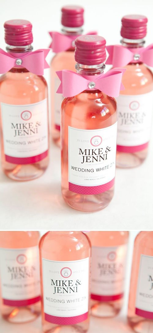 Where To Find Mini Wine Bottles For Your Wedding Woman Getting Married