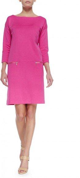 Joan Vass Interlock-Knit Two-Pocket Dress • Joan Vass • $69