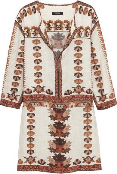 Isabel Marant Sandrine Printed Modal Mini Dress • Isabel Marant • $492