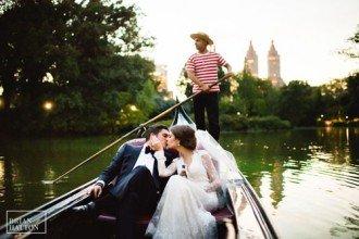 Central Park Boathouse Gondola Wedding