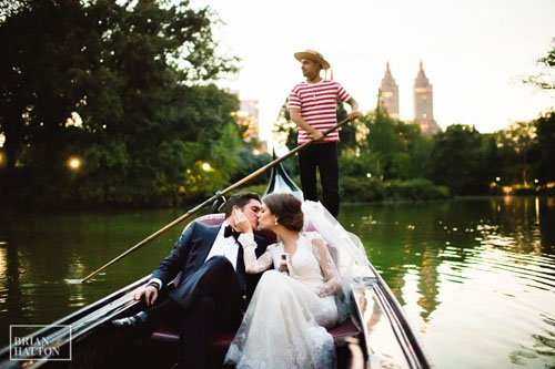 Central Park Boathouse Gondola Wedding