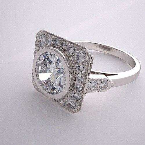 Engagement Ring Setting Antique Style Diamond