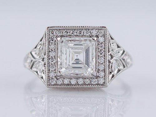Asscher Cut Diamond In Platinum