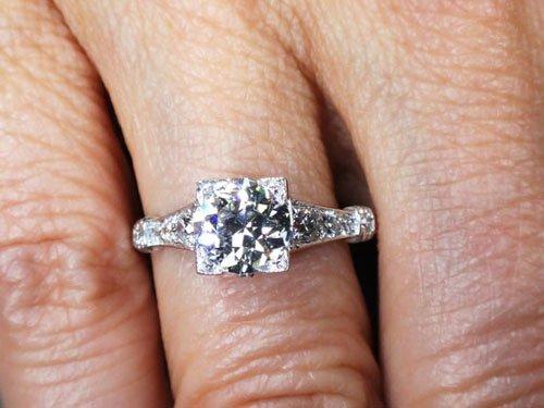 Antique Diamond Engagement Ring 1.01 Carat