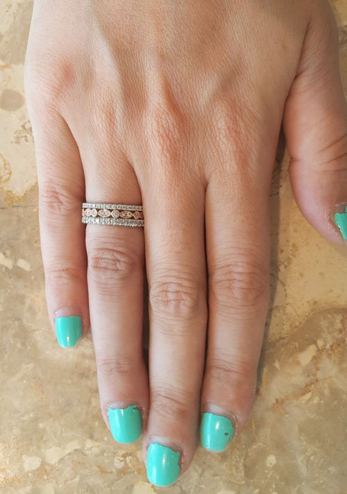 Multicolor Engagement Ring or Wedding Band