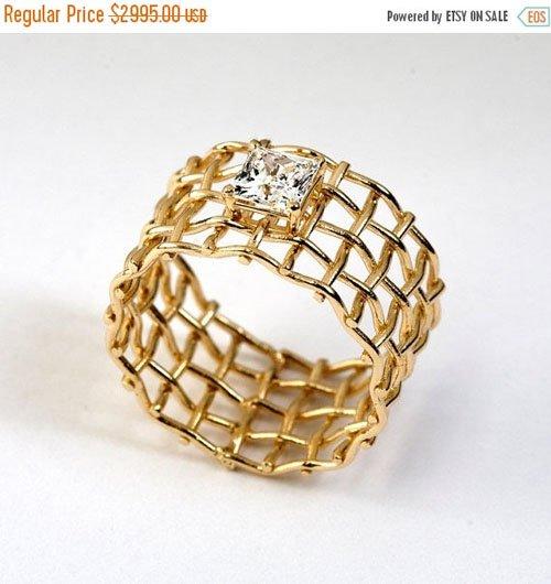 Mesh Engagement Ring