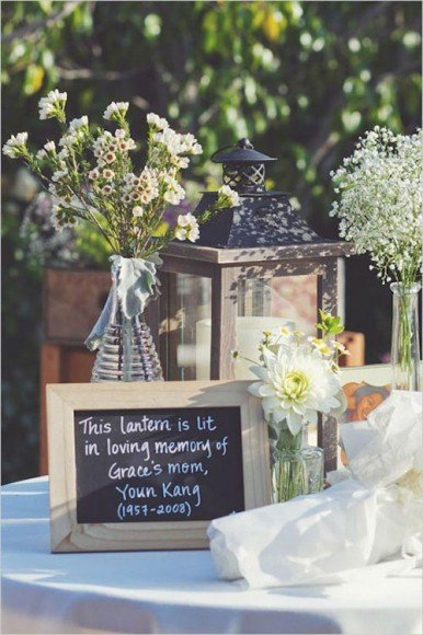 A special table to honor loved ones is a classic way to remember them. Photo by
