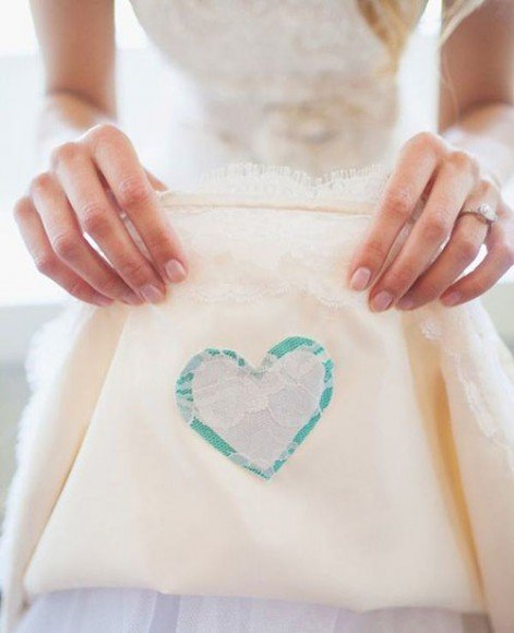 Sew a heart with their name on it. Photo by Lauren Conrad