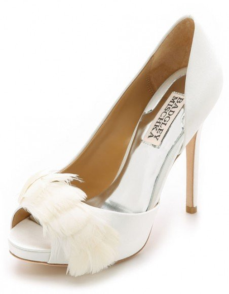 Badgley Mischka Piper Feather Peep Toe Pumps • Badgley Mischka • $141