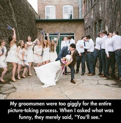 This photo is definitely a keeper. Check out 20 Wedding Party Photos You Have to Get for more fun ideas.