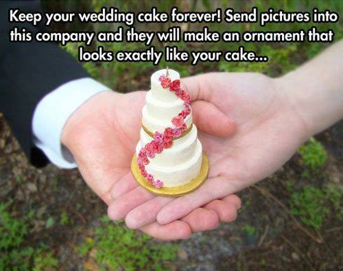 Turn Your Wedding Cake Into an Ornament