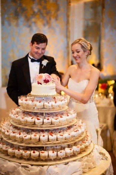 This is another fun wedding cake idea. See more of our favorite wedding cake alternatives here here.