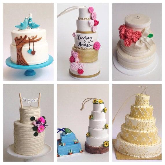 Wedding Cake Replica Christmas Ornament