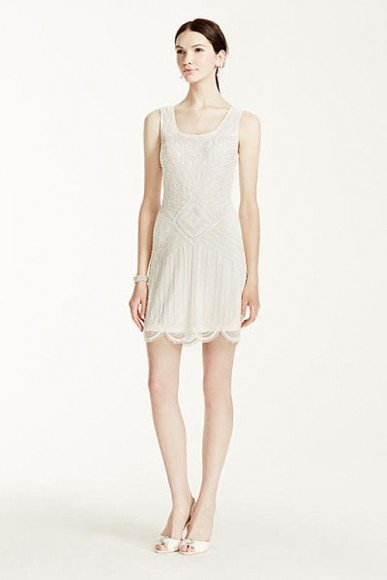 DB Studio LIMITED EDITION - Beaded Short Tank Dress with Scallop Hem, Style 061901390. In Store & Online. $249.95. Buy it Here