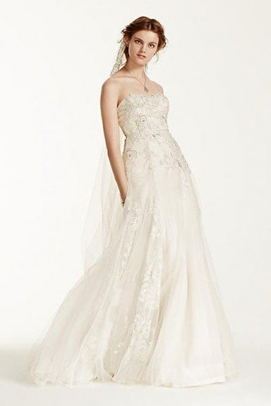 Melissa Sweet Tulle Wedding Dress with 3D Flowers, Style MS251115. In Store & Online. $1,250.00 to $1,350.00. Buy it Here