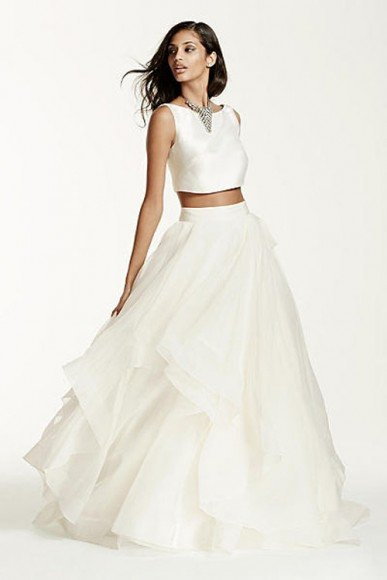 Galina Signature Two-Piece Mikado Crop Top Ball Gown, Style SWG687. In Store & Online. $1,050.00. Buy it Here