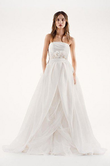 White by Vera Wang Textured Organza Wedding Dress, Style VW351178. In Store & Online. $828.00. Buy it Here
