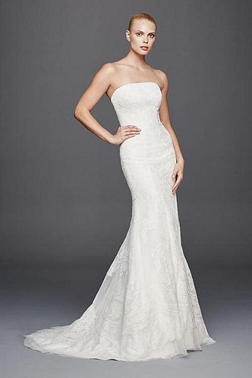 13 stunning david 39 s bridal wedding dresses you have to see for Zac posen short wedding dress
