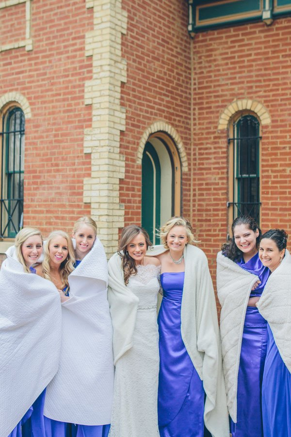 A Wintry St  Louis Wedding at 9th Street Abbey | Woman Getting Married