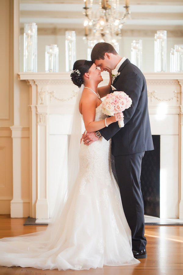 A Blush And Gold Wedding At The Hotel Concord Woman Getting Married