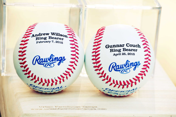 engraved baseball gift