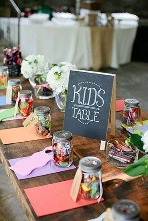 Deck out the kids table