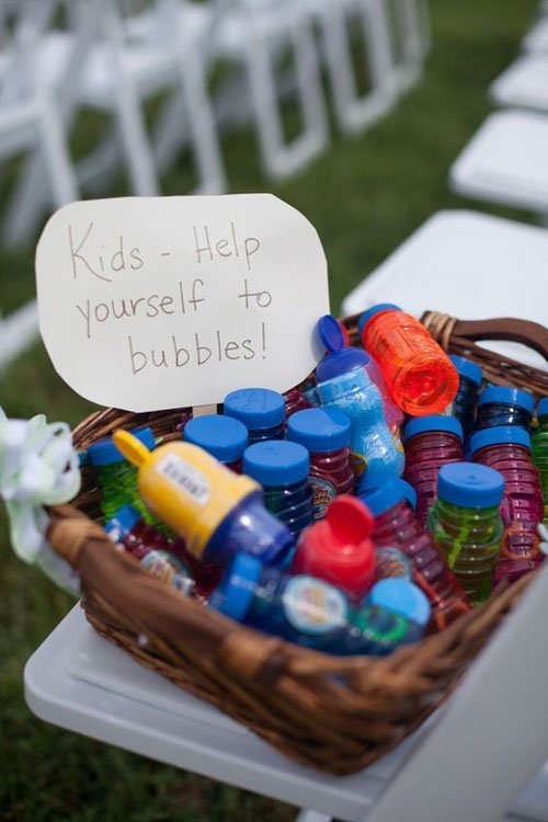 Have a bubble station!