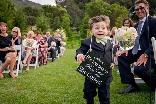 He's SO excited to get down that aisle!