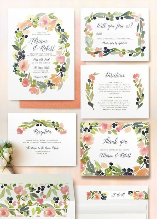 Spring Wedding Invitations