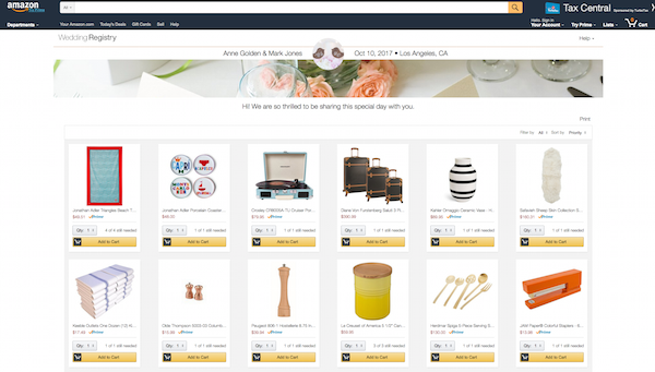 5 things you need to know about setting up an amazon registry amazon wedding registry malvernweather Images