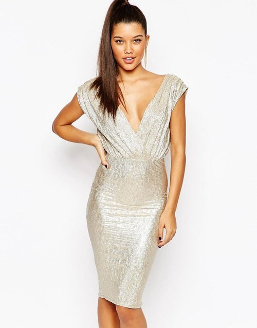 On The Hunt Metallic Bridesmaid Dresses Woman Getting