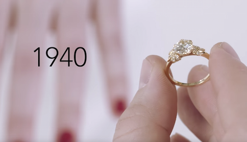 100 Years Of Engagement Ring Styles Woman Getting Married