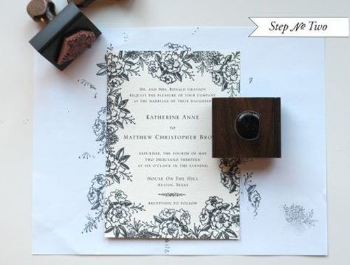 Wedding Invite Stamp: 24 DIY Wedding Invitations That Will Save You Money
