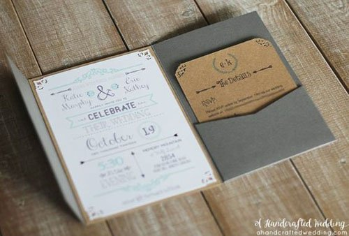 24 diy wedding invitations that will save you money. Black Bedroom Furniture Sets. Home Design Ideas