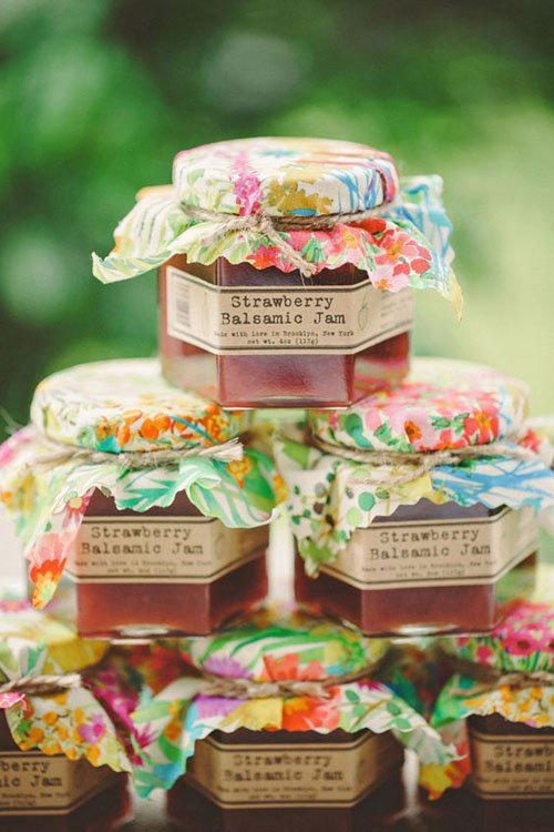 Homemade Jam Wedding Favors