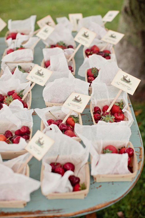 Fresh Fruit Wedding Favors/Escort Cards