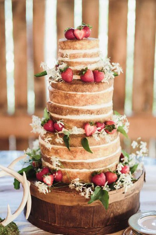 Perfect Rustic Wedding Cake