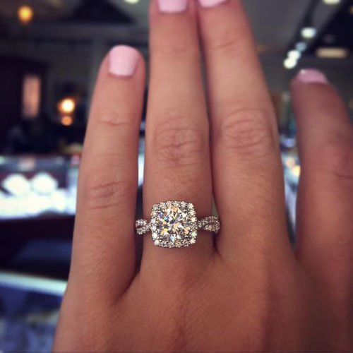 43 Stunning Engagement Rings She'll Love. Mens Colored Wedding Rings. Big Diamond Rings. Famous Wedding Rings. 3 8 Ct Tw Roundcut 10k White Gold Wedding Rings. Band Chevron Wedding Rings. Nursing Rings. Infinity Symbol Band Engagement Rings. Ring Style Rings