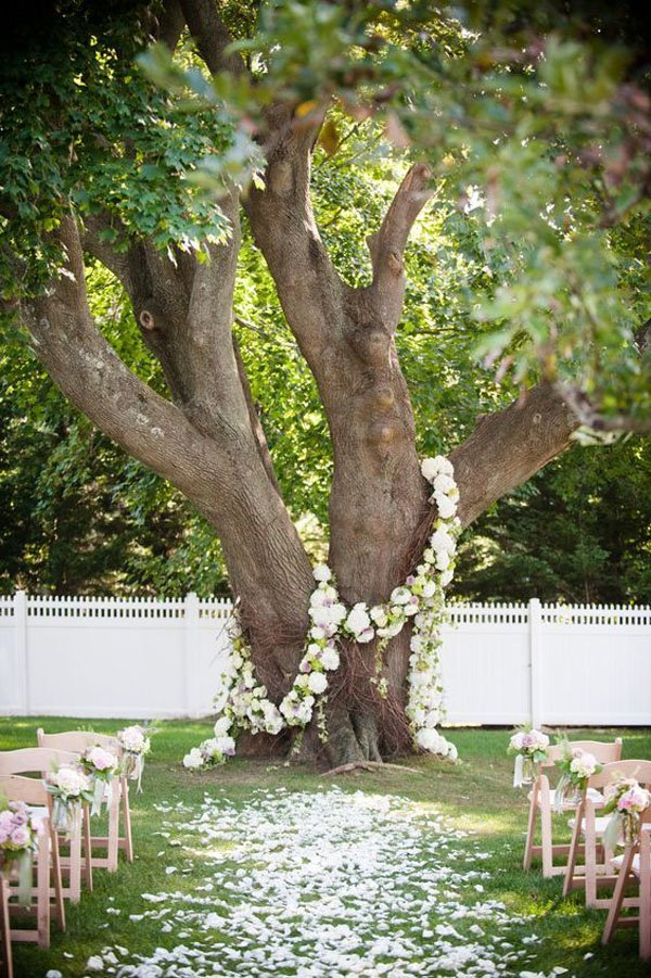 10 outdoor wedding ceremony ideas that nobody else will have - Decoration arbre mariage ...