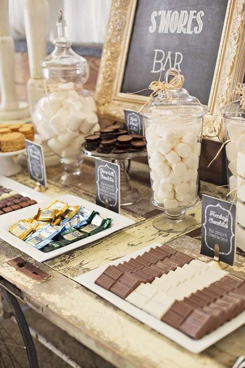 having an outdoor wedding smores are a huge hit on pinterest theyre nostalgic delicious and pretty cheap too